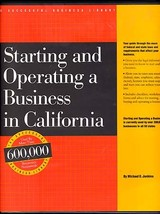 Starting and Operating a Business in California How to Guide Michael D. ... - $22.00