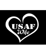 AIRFORCE WIFE USAF Military Vinyl Decal Car Truck Sticker choose size color - $2.60+