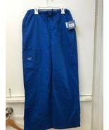 Cherokee Workwear 4043 Unisex ScrubBottoms Pants Royal Blue XS Cotton S... - $16.95