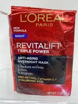 L'Oréal NIGHT Revitalift Triple Power Anti-Aging Overnight Mask Wrinkle 1.7oz - $10.44