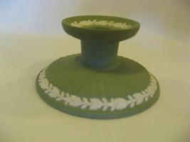 Wedgwood Green Candlestick, Jasperware Wedgewood - $9.88