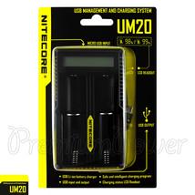 NITECORE UM20 charger smart USB digi LCD Li-ion IMR battery 18650 18490 ... - $21.99