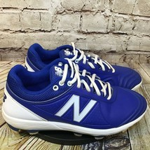 New Balance Fuse Womens Blue and White Molded Softball Cleats Size 9.5 B - $23.06