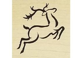 Vintage PSX Reindeer & a Joy Rubber Stamp, Set of 2