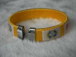 Brazil World Cup Football Sports Souvenir Bracelet Silicone - One Bracelet image 2