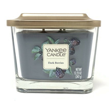 Yankee Candle Dark Berries 3 Wick 12.25 Oz Square Soy Wax Candle with Lid  - $28.70