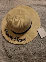 "Lauren Conrad ""Privacy Please"" Straw Floppy Hat - $16.78"