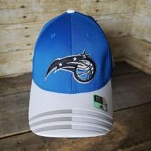 adidas Orlando Magic Blue/Gray Team Logo Striped Bill Flex Hat Cap - NEW - $24.18