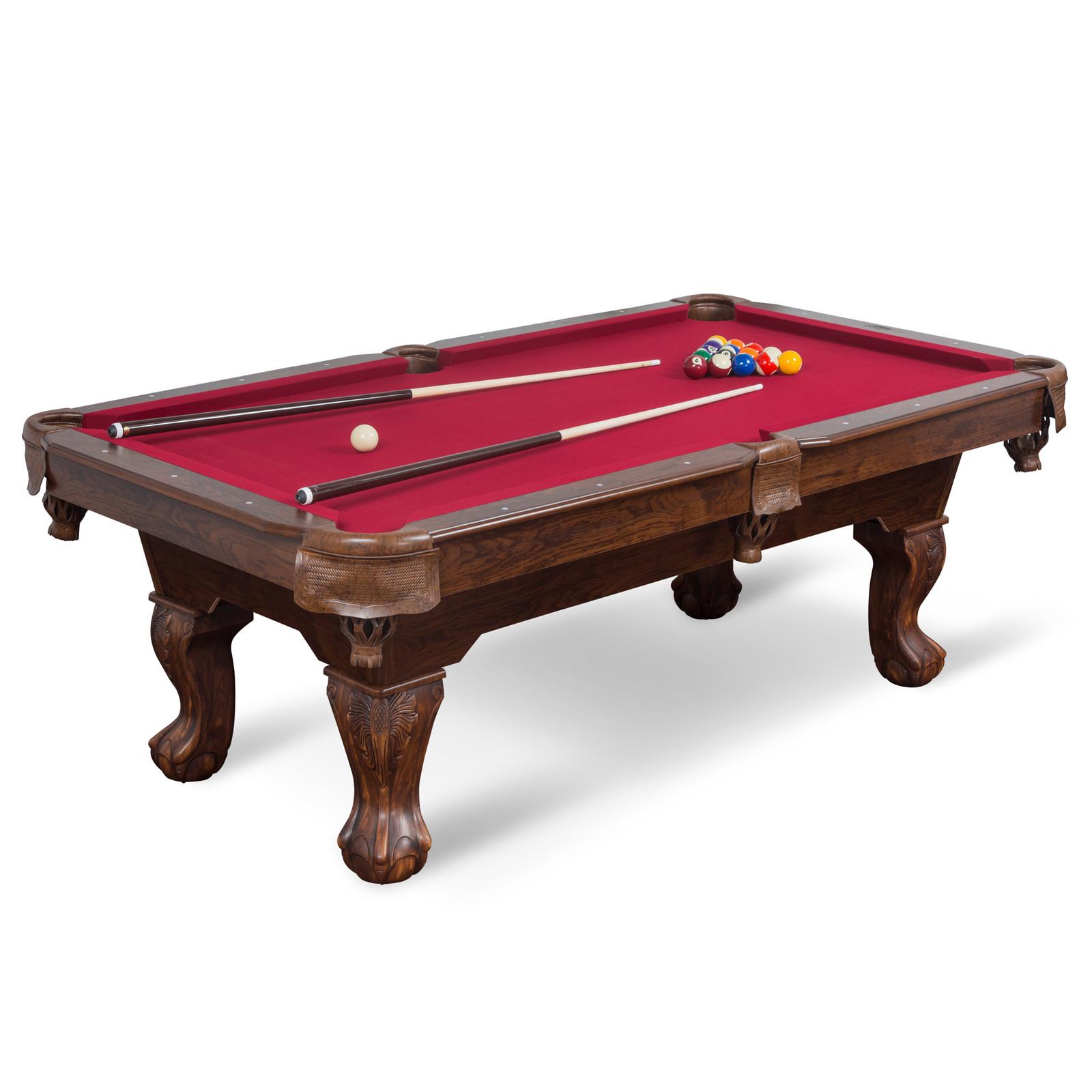 "87"" Billiard Pool Table 8 Ball Cue Stick Bank Shot Break Chalk Scratch Man Cave"