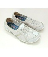 Skechers Womens Sz 9 Relaxed Fit Breathe Easy Allure White Slip-on Sneakers - $29.69