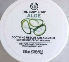 The Body Shop ALOE SOOTHING RESCUE Over Night CREAM MASK 3.3 oz / 100ml NEW - $11.31