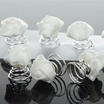 12Pcs Ribbon Rose Flower Wedding Bridal Hair Pins Twists Coils Swirl Spi... - £6.41 GBP
