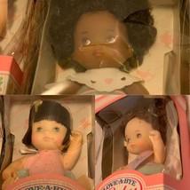"3 Love A Bye Baby 4"" Dolls White & African American Styles Vtg 1987 Hasbro Doll - $29.61"