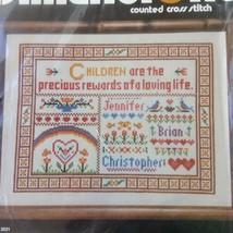 Children Are Precious Cross Stitch Kit Sampler Dimensions Brandywine Personalize - $14.50