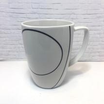 Corelle Corning Simple Lines Coffee Tea Cup White Black  - $15.79