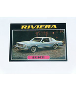 1976 Topps Autos of 1977 #9 Buick Riviera Card VG-EX Condition - $14.83