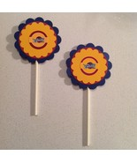 Nba Cleveland Caveliers Cupcake Toppers Party Deco Birthday Purple Handm... - $15.00
