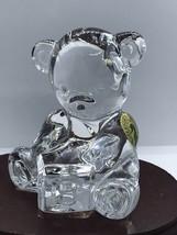 Waterford Crystal TEDDY BEAR Figurine Sculpture Block ABC Paperweight NE... - $38.50