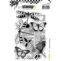 Dragonflies & Butterflies Stamp.  Carabelle Studio. Libellules & Papillons