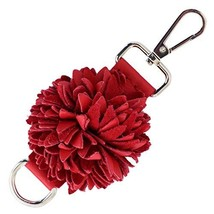 Genuine Leather Handmade Pom Pom Charms | Key Ring Keychain | for Tassel... - $22.93