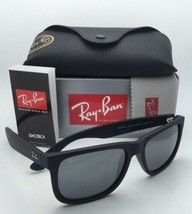 Ray-Ban Sunglasses JUSTIN RB 4165 622/6G 54-16 Rubber Black Frame w/ Gray Mirror