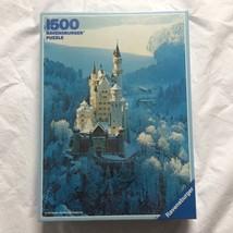 Vtg Ravensburger Puzzle Neuschwanstein Castle Winter Germany 1500 Piece NIB 1983 - $18.99
