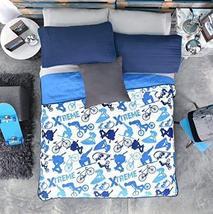 New Pretty Skateboard, Bike Xtreme, Motorcycle Kids Boys Reversible Bedspread Se - $63.36