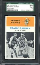 1961-62 Fleer #60 Frank Ramsey Sgc 7.5 Celtics Hof - $75.00