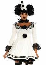 Leg Avenue Pierrot Clown Sexy Gothic Dress Adult Womens Halloween Costum... - $53.37