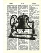 Antique Bell Hand Wheel Steampunk Dictionary Art Print  fun016 - $10.99