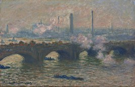 Waterloo Bridge, Gray Day Painting by Claude Monet Art Reproduction - $32.99+