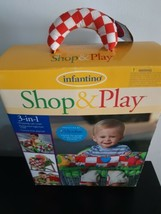 Infantino Shop And Play 3 In 1 Shopping Cart Cover Tummy Time Playmat Hi... - $24.70