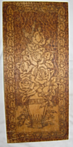 Flemish Art Co. Quality Wood Burned Pyrography Wall Plaque Roses - $54.99