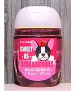 Sweet as Strawberry Boston Terrier Pocketbac Sanitizing Hand Gel Bath Bo... - $5.50