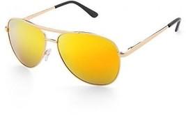 Mirrored Aviator Sunglasses For Women Men, Polarized, Gold Frame, UV400 - $31.68