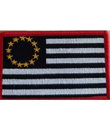 Betsy Ross USA United States Flag Embroidered Patch with Hook & Loop Bla... - $12.84