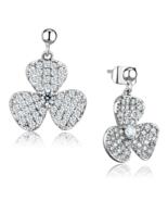 Women's Brass CZ Clear Flower Dangle & Drop Earrings - $29.90