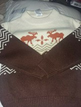 Brand New Boys Gymboree Cream-Ivory/Brown Sweater with Moose Size 4 - $33.66