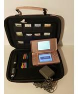 Nintendo DS Lite Metallic Pink Rose Handheld System Bundle w/ 9 GAMES, Case - $60.76