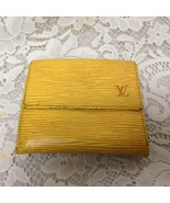 Authentic, Louis Vuitton, Yellow Epi Leather Wallet-Coin Purse 4.25in x 4in - $118.70