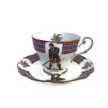 Vintage Royal Standard Clan Cameron Bonnie Scotland Cup & Saucer Golfer ... - $42.08