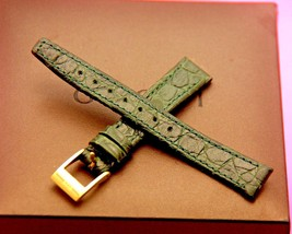 New Gucci 12 MM Green Alligator Pattern on Genuine Leather Watch Band  (12.104) - $29.95
