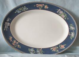 "Wedgwood Blue Siam Oval 17"" Platter - $138.49"