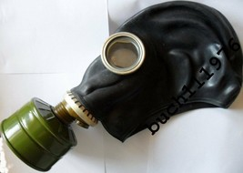 NBC RUSSIAN RUBBER SOVIET GAS MASK MILITARY GP-5 Black Helloween size's ... - $2.96