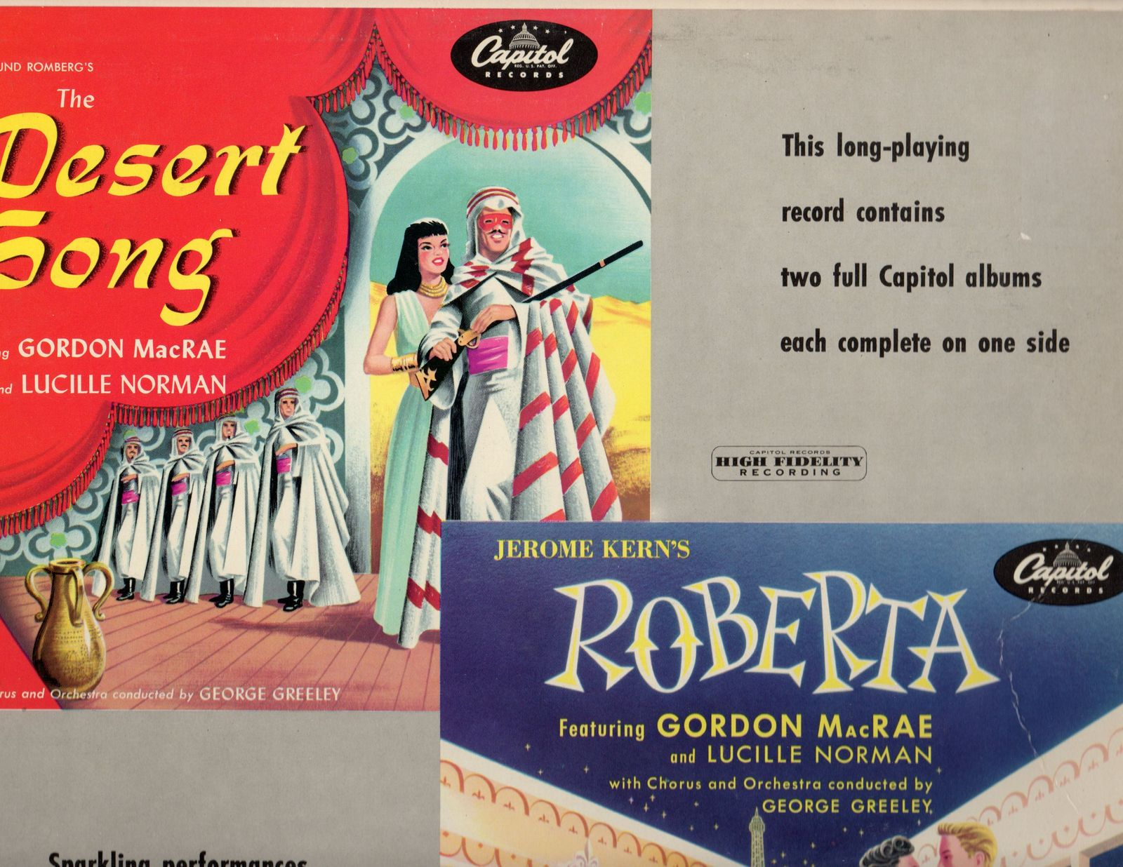 Primary image for The Desert Song / Roberta  Robert Sands, Gordon MacRae, Thurl Ravenscroft, Lucil
