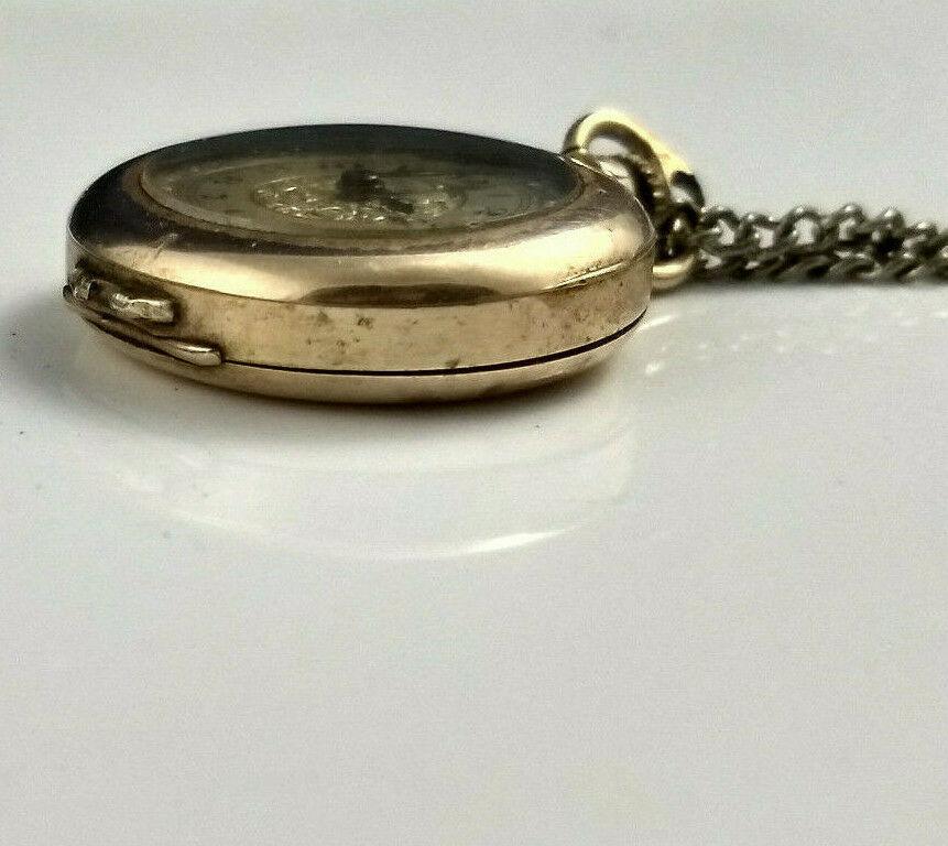 vtg WADSWORTH RELGIS HELBROS W & CO 15j 10k GOLD FILLED POCKET WATCH Swiss rare image 7