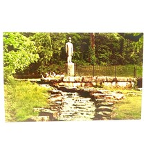 Lynchburg Tennessee Jack Daniels Statue and Spring Distillery Vintage Po... - $4.95