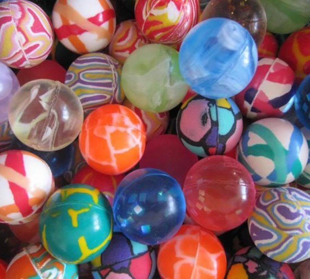 Crazy Bouncy Jumping Balls Set of 6 Assorted Multicolor Balls image 1