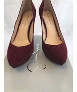 Jessica Simpson Women's Venisse Platform Pump, Red, Size 8.5 - $44.55