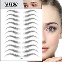 TMYIOYC Eyebrow Tattoo Stickers, 8 Styles Eyebrow Shapes Imitation Waterproof Na image 3